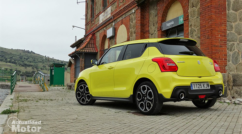 Test Suzuki Swift Sport rear profile