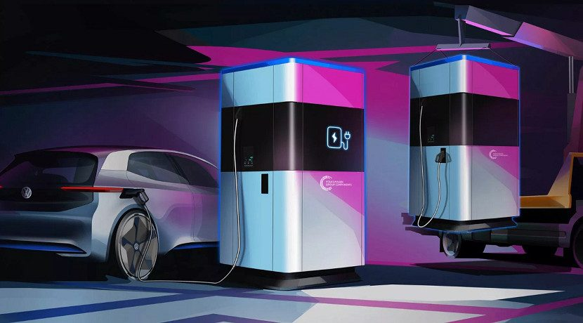 Volkswagen charging stations of 360 kWh