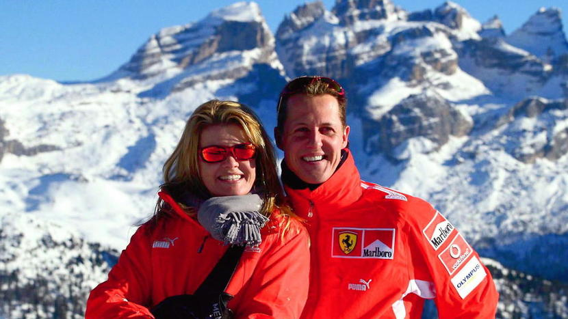 Michael and Corinna in the Alps