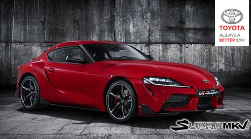 Front of the Toyota Supra 2019 filtered