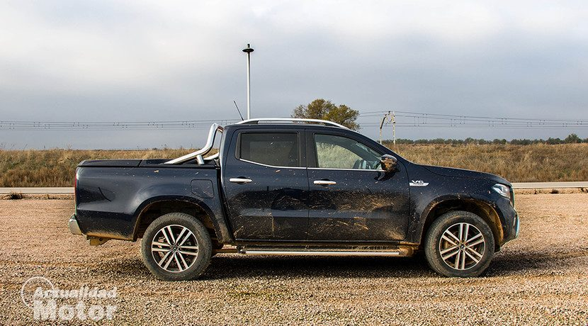 Lateral of the Mercedes X-Class